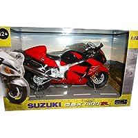 AUTOMAXX-600202 SUZUKI GSX 1300 R HAYABUSA BIKE 1/12 BLACK / RED [並行輸入品]