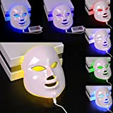 SUND 7色LEDマスク 毛穴汚れ 肌のツヤ ハリ 家庭用美顔機器 光エステ美容器 エイジング ニキビ カラーLED