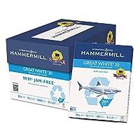 "Hammermill–レーザー印刷用紙、24lb 98、明るい、8–1/ 2x 11""–Ream ES"