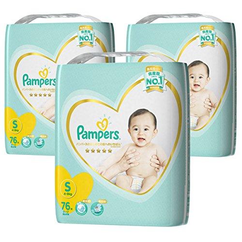 【ケース販売】 パンパース オムツ テープ はじめての肌へのいちばん S(4~8kg) 228枚 (76枚×3パック)