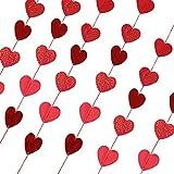 Perfeclan 6個 ガーランド バナー バレンタイン パーティーデコレーション ハート