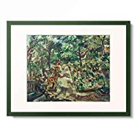 ロヴィス・コリント Lovis Corinth 「Garden in Berlin-Westend」 額装アート作品