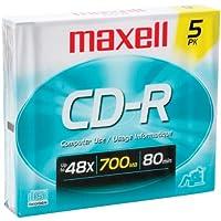 Maxell 623205/ 64820580分5pk CDRスリムジュエルケース