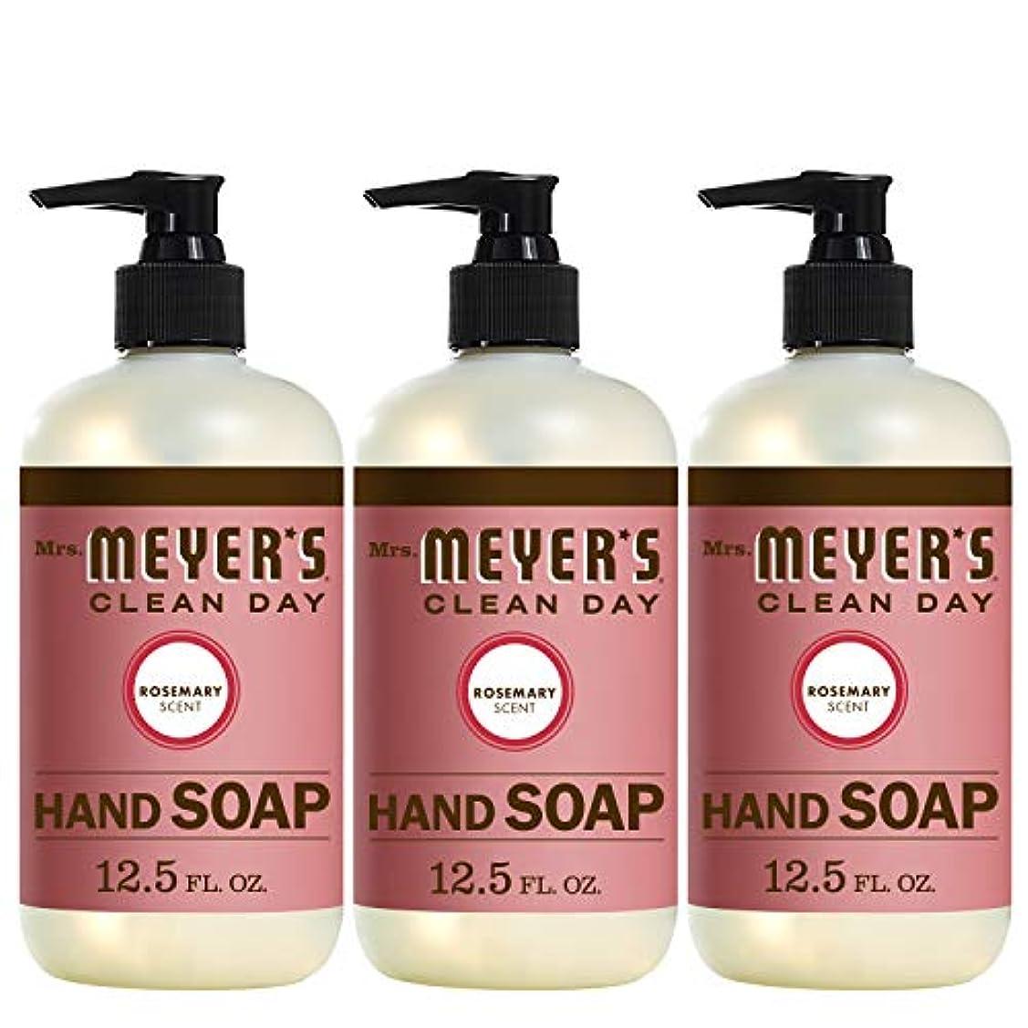 ボーカル抑圧者今Liquid Hand Soap - Rosemary - Case of 6 - 12.5 oz by Mrs. Meyer's