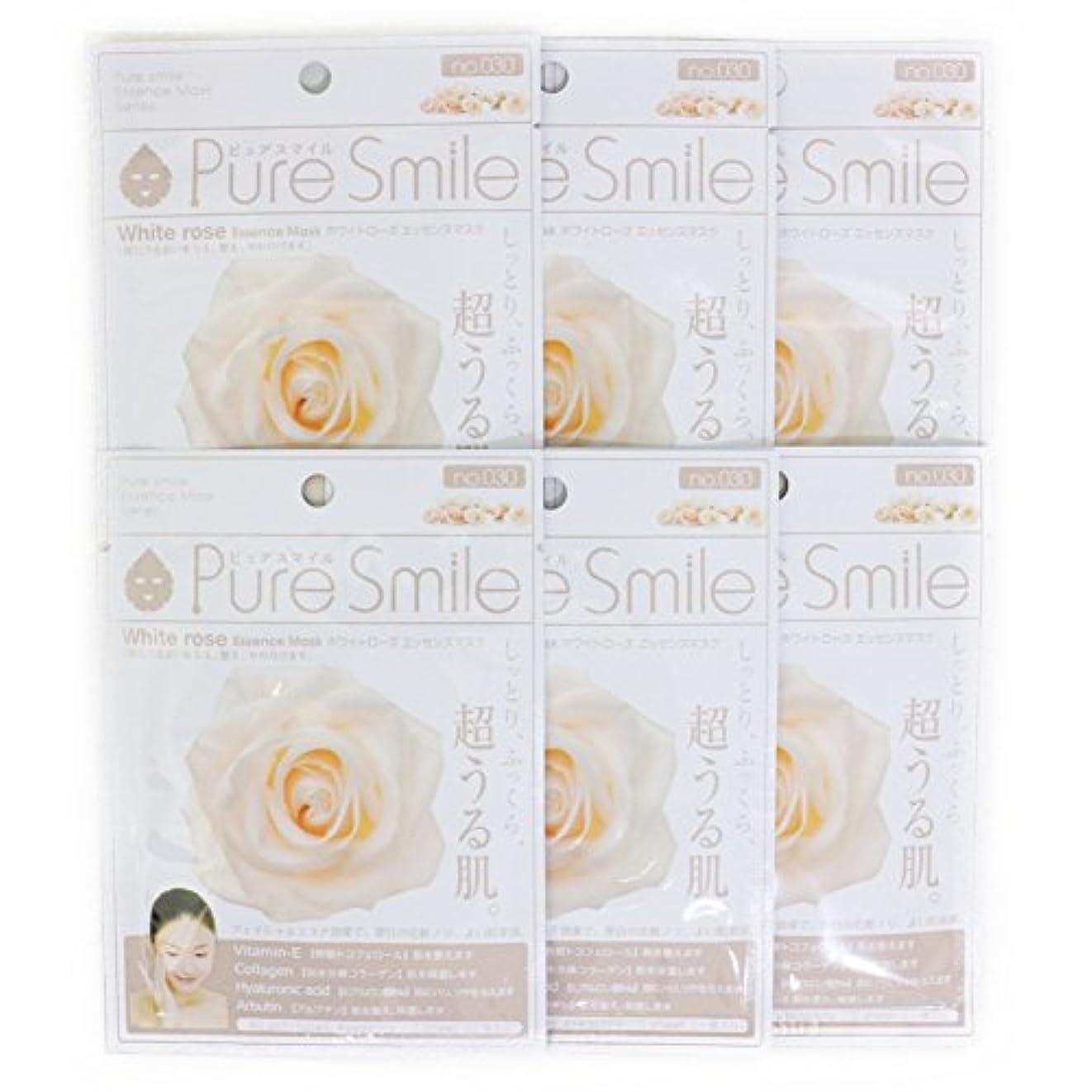 バンカー接辞イデオロギーPure Smile ピュアスマイル エッセンスマスク ホワイトローズ 6枚セット