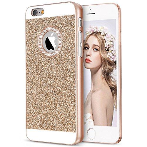 Imikoko iPhone6s 6 ケース アイフォン6/6s カバー case キラキラ おしゃれ かわいい ハード ラメ ゴールド