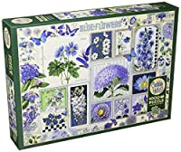 Cobblehill Puzzles 1000pc - Blue Flowers