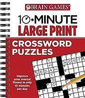 Brain Games? 10-Minute Large Print Crossword Puzzles [並行輸入品]