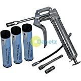 Dapetz ® Pistol Grip Grease Gun Set With 3 Cartridges For 3Oz Cartridge Or Bulk Grease