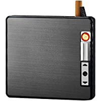 Automatic Rechargeable Electric USB Cigarette Case Lighter Gift Dampproof Box