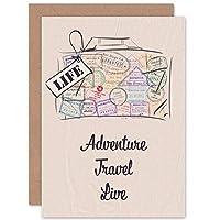 ADVENTURE TRAVEL LIVE PASSPORT ART GREETINGS GREETING CARD GIFT 広告ベンチャー旅行スポーツ挨拶贈り物