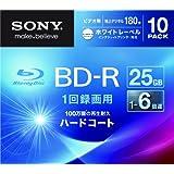 SONY ビデオ用BD-R 追記型 片面1層25GB 6倍速 ホワイトプリンタブル 10枚パック 10BNR1VGPS6