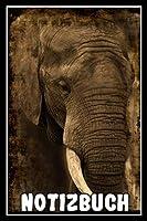 Notizbuch: Planer mit Elefant fuer deine Notizen. 120 Seiten mit Punkten und glaenzendem Softcover