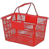 ショッピングバスケット U-28 レッド/62-6380-28