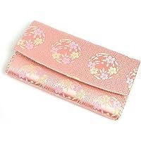 【茶道具 袱紗ばさみ?懐紙入れ】三つ折帛紗ばさみ 亀甲に桜の丸