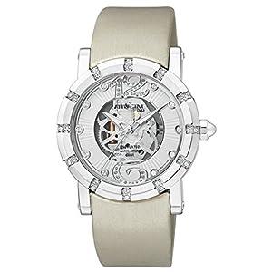 [シチズン キューアンドキュー]CITIZEN Q&Q 腕時計 ATTRACTIVE 革ベルト スケルトン風デザイン 逆輸入 海外モデル