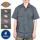 (ディッキーズ)DICKIES 半袖ワークシャツ Short Sleeve Work Shirt メンズ [並行輸入品] M Charcoal