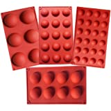 Semicircle Silicone Mold,Shxmlf Half Sphere Chocolate, Candy and Gummy Mold Teacake Bakeware Set for Cake Decoration Mousse D