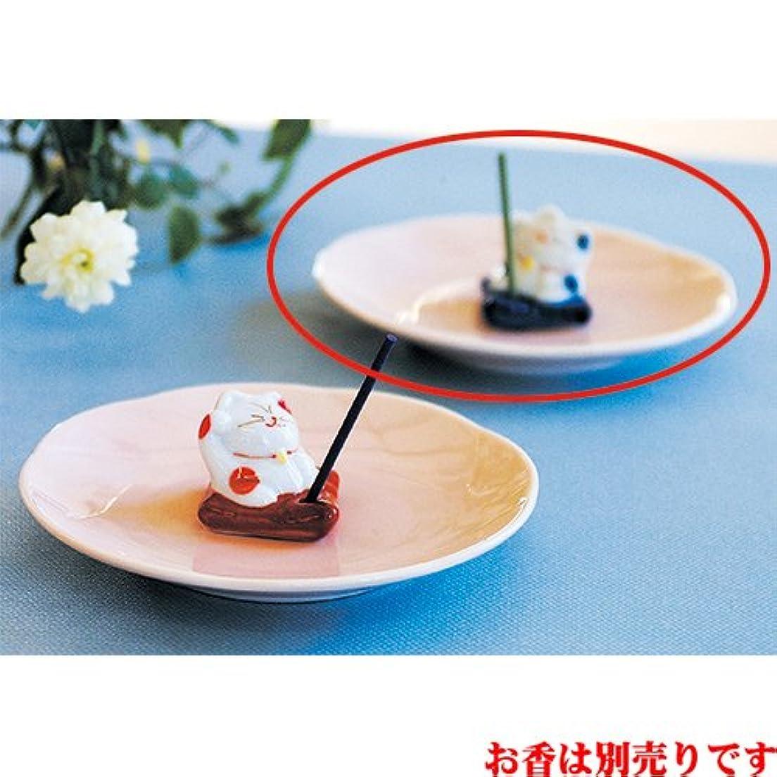 ゴシップマングル材料香皿 ザブトンネコ 香皿 ブルー [R12.5xH4cm] プレゼント ギフト 和食器 かわいい インテリア
