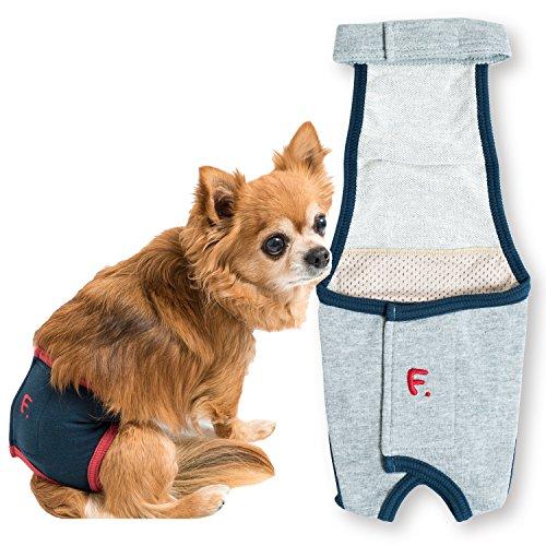 犬猫の服 full of vigor シンプルサロペットマナーガード(マナー&サニタリーパンツ兼用) 小型犬用 マナーパンツ サニタリーパンツ カラー 13 グレー杢 サイズ NS フルオブビガー