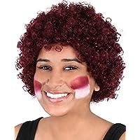 Maroon Curly Clown Wig