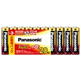 パナソニック 単3形アルカリ乾電池 20本パック LR6XJ/20SW