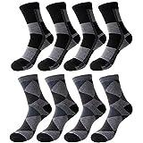 袜子 男式 休闲 商务袜 罗纹袜子 商务 袜子 透气性好 抗菌防臭 10双/8双/5套 -