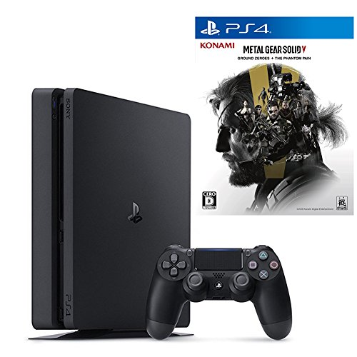 PlayStation 4 ジェット・ブラック 500GB + METAL GEAR SOLID V: GROUND ZEROES + THE PHANTOM PAIN セット