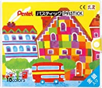 ぺんてる ぺんてる パスティック 18色 D GC1-18D 00017507 【まとめ買い3個セット】
