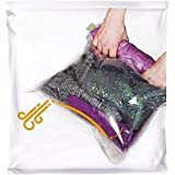 The Chestnut - 8 Travel Space Saver Bags - No Vacuum or Pump Needed - Storage for Clothes - Reusable Packing Sacks - Travel A