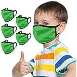 5PCs Reusable Kids Face Masᴋs, Cute Face Masᴋs, Mountain Bikes Face Masᴋs, Washable Fashion Dustproof Windproof Anti-haze Makkalensau Protective Motorbike Bandanas, Wear for School Desk Activities