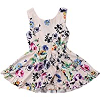Baby Kid Girls Clothing Dress Romper Jumpsuit Sleeveless Cute Flower Party Tutu Dresses Romper Clothes Girl 6M-5T