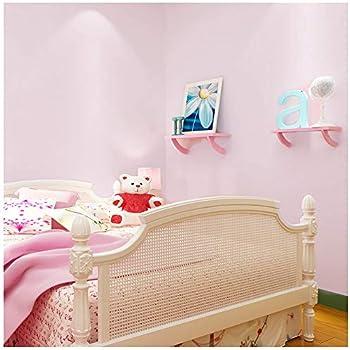 HaokHome H025 かんたん貼付シール 防水 剥がせる 壁紙 無地 ピンク ウォールステッカー家具 60cm x 6m