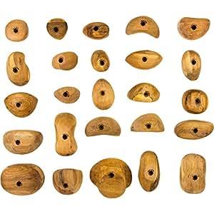 ウッドグリップで軽快なクライミングウォールを!Metolius(メトリウス) クライミングホールド(木製) 25個パック【並行輸入】海外正規品