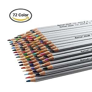Niutop色鉛筆 アートワークスケッチ 秘密花園の本 子供の絵画に適用色鉛筆 子供/大人の塗り絵用色鉛筆 (72カラー)