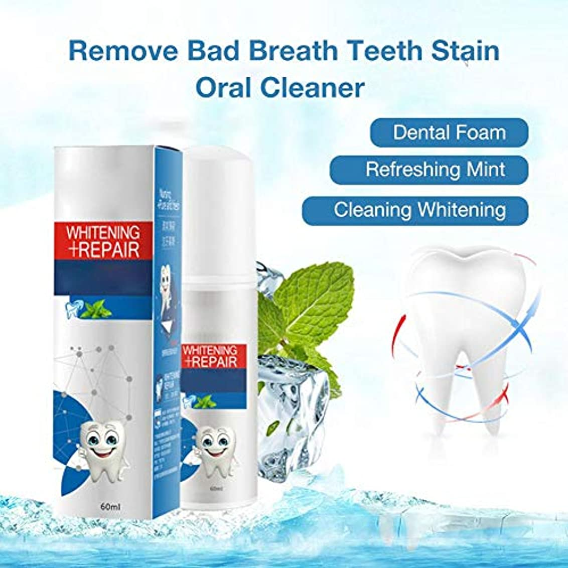 管理するベックス責める歯科用フォーム液体歯磨 クリアクリーン デンタル 洗口液 ホワイトニング マウスウォッシュ 口内洗浄液 低刺激 60ml 虫歯と戦うために