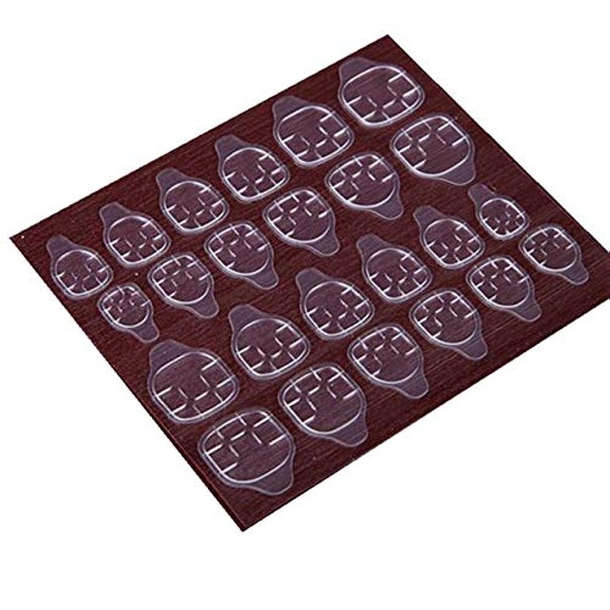好奇心予知倉庫YUJIA 高品質 240枚/セット ネイルチップ接着剤 ゼリー両面接着剤 ネイルチップ両面テープ つけ爪両面テープ (240枚/セット-つけ爪ゼリー両面テープ)