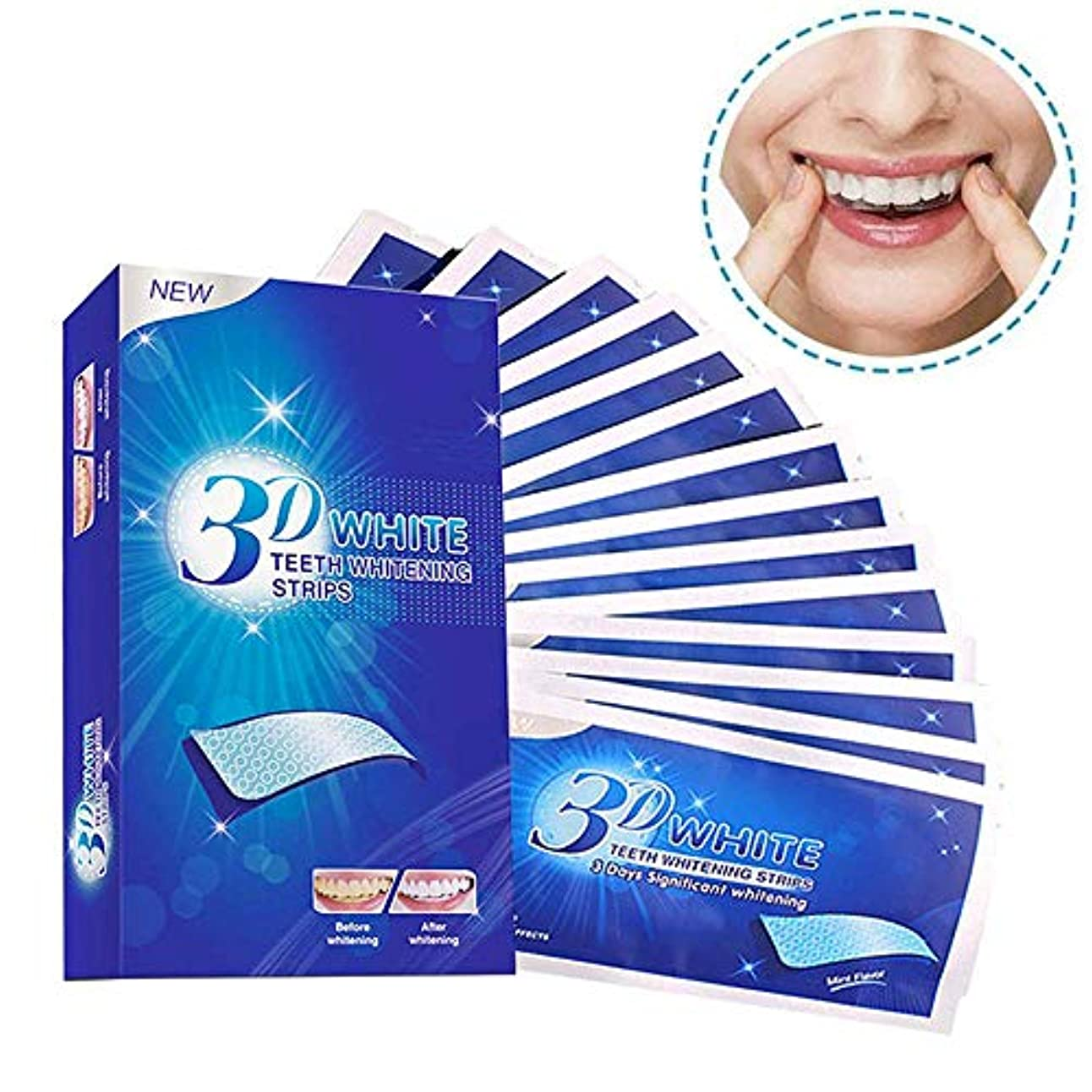 涙もろい無臭歯 美白 ホワイトニング マニキュア 歯ケア 歯のホワイトニング 歯を白 ホワイトニングテープ 歯を漂白 7セット/14枚 (7セット/14枚)