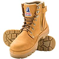 Steel Blue Mens Work Boots Argyle Zip Steel Toe Wheat 312152