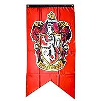 XXL Harry PotterシリーズバナーGryffindor / Hufflepuff / Ravenclaw / Slytherin /エンブレムCollege旗ホームデコレーションギフト12575CM レッド HF386-A