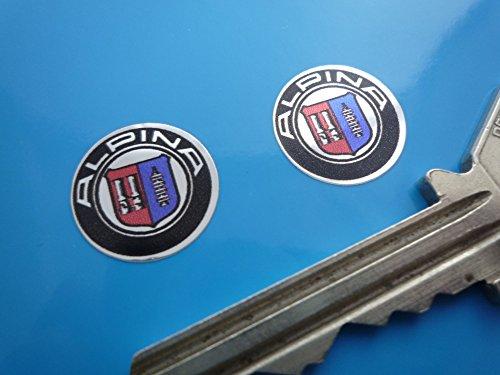 BMW Alpina Logo Chrome Style Stickers アルピナ ステッカー デカール シール 海外限定 35mm 2枚セット [並行輸入品]