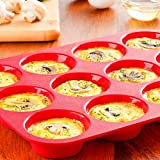 QZ Silicone Non Stick 12 Cup Maker Tray Muffin Pan Baking Jelly Mold Mould Tool,Variation:DEFAULT
