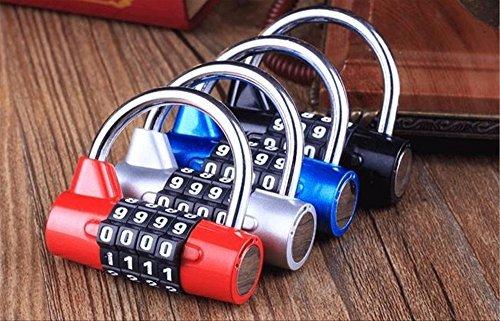 ダイヤルロック ナンバーロック 暗証番号 4桁 南京錠 鍵 補助錠 錠前 ロック スーツケース ドア...