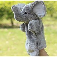 ychoice面白いFinger Puppets Toy Cartoon Animal Finger Puppets Cloth赤ちゃん教育象手Storyおもちゃ(グレー)