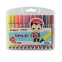 水彩ブラシセット - グラフィティペン12色 - 洗える非毒性マーク - 耐久性 - ポータブルペイント (Color : 24)