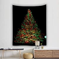 カタク(KATAKU)ペストリー クリスマスツリー 大判 200*150cm インテリア 多機能 壁飾り 部屋/窓カーテン 模様替え モダン 間仕切り 簡単撮影用 装飾布 カーテン 祝日 プレゼント キラキラ おしゃれ 壁掛けタペストリー Merry Christmas-06