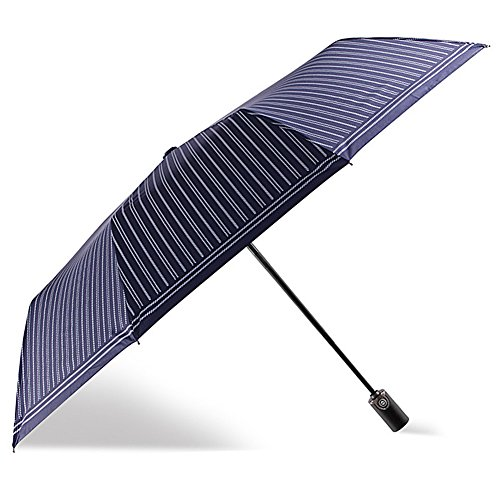 (アドンルル)adunlulu折りたたみ傘 自動開閉折り畳み傘 頑丈な10本骨 210T高密度NC布 耐強風 軽量 撥水性 収納ケース付 blue