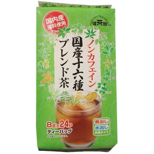 健茶館  ノンカフェイン十六種ブレンド茶24P 192g