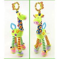 YJSBIZ ベビー ソフト ボニー キリン フラシ天 おもちゃ キッズ ハンドベル ラトル 発達 インタラクティブ おもちゃ 赤ちゃん 誕生日 プレゼント ガールズ 4色 グリーン 6