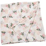 MagiDeal 120x120cm Super Absorbent Cotton Blanket Baby Wrap Soft Bath Towel - Rose, 120x120cm